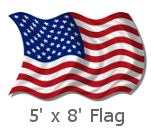 5x8 Foot US Flags