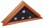 Walnut Commemorative Flag Case
