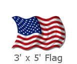 3x5 Foot US Flags