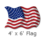 4x6 Foot US Flags