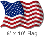 6x10 Foot US Flag
