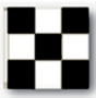 3x3' nylon black/white checkered flag
