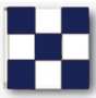 3x3' nylon blue/white checkered flag