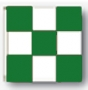 3x3' nylon green/white checkered flag