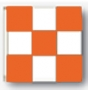 3x3' nylon orange/white checkered flag